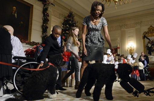 usa in weihnachtsstimmung first dogs und leuchtende weihnachtsb ume panorama stuttgarter. Black Bedroom Furniture Sets. Home Design Ideas