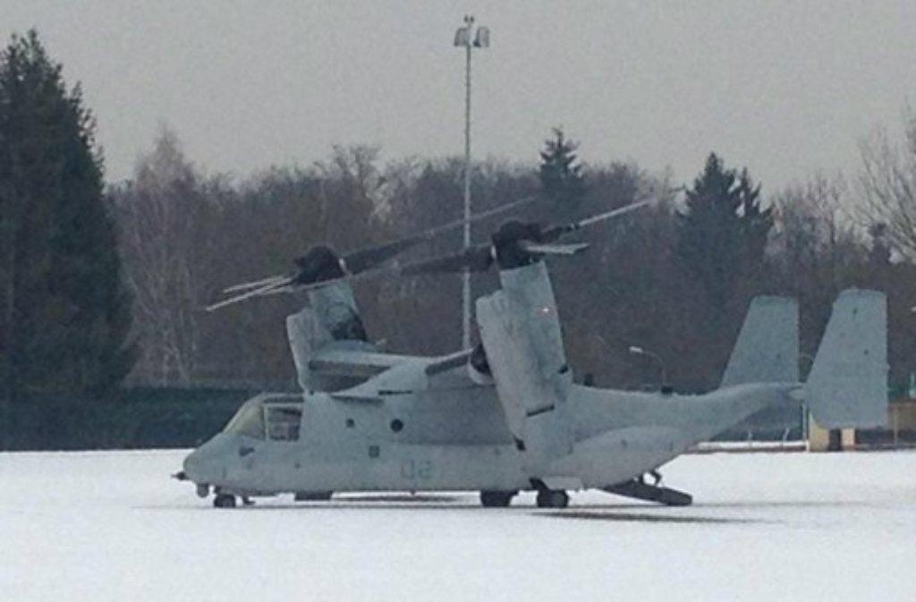 US Marine Corps: Stuttgart: Der Fischadler ist schon wieder weg