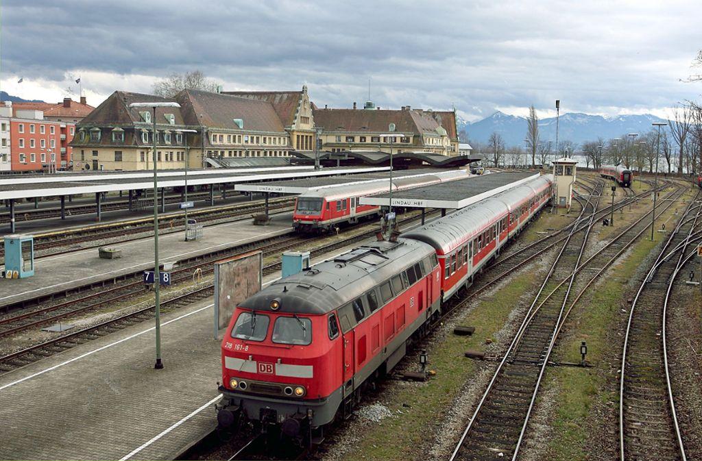 Zwischen Friedrichshafen Und Lindau Bahnstrecke Bis Ende März