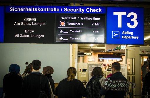 Terminal 3 eine Stunde gesperrt