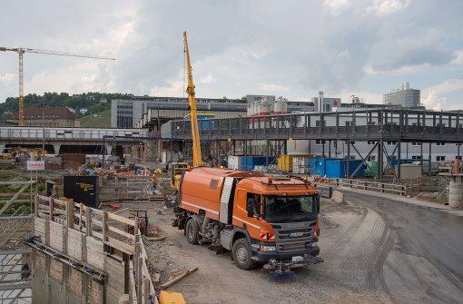 Beim Bahnhof Nachträge für 40 Millionen Euro