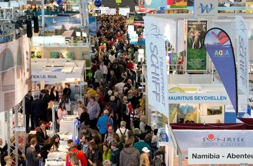 Jedes Jahr im Januar findet die  Tourismus-Messe Caravan – Motor – Touristik,  kurz CMT, auf dem Messegelände in Stuttgart statt. Foto: dpa