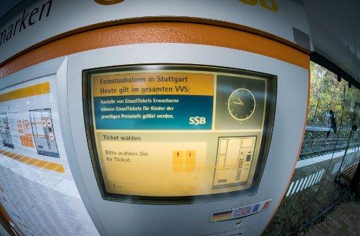 SSB-Ticketautomaten zeitweise außer Gefecht