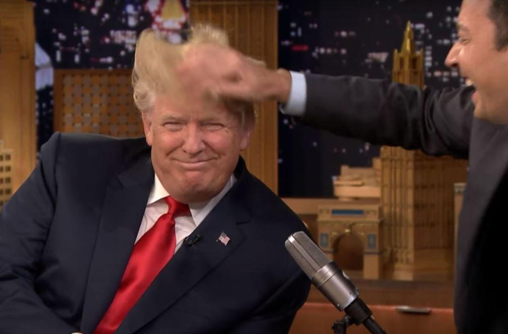 Us Talkshow Mit Jimmy Fallon Trump Lasst Sich Im Fernsehen Die