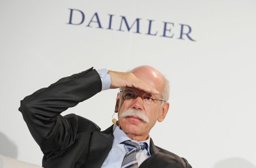 Daimler-Chef Dieter Zetsche Foto: dpa