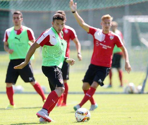 Arianit Ferati kann aktuell nicht am Training des VfB Stuttgart teilnehmen. Foto: Pressefoto Baumann