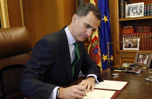 König Felipe löst Parlament auf