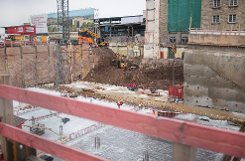 Die Baustelle am Hauptbahnhof Stuttgart - fotografiert im Januar 2013. Foto: www.7aktuell.de | Florian Gerlach