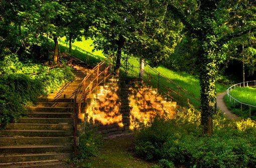 Die Sünderstaffel an der Gänsheide wurde schon im 14. Jahrhundert erwähnt. Wie die 260 Stufen zwischen Pfizer- und Diemershaldenstraße zu ihrem Namen gekommen sind, darüber scheiden sich die Geister: Während die einen meinen, die Staffel sei nach einem Wengerter namens Sünder benannt, der seine Weinberge an der Diemershalde hatte, ... Foto: Leserfotograf grekop
