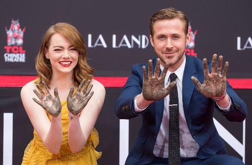 Emma Stone und Ryan Gosling verewigen sich