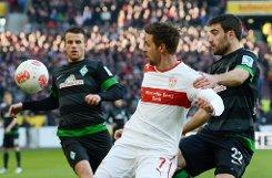 Gegen Tabellennachbar Werder Bremen kassierte der VfB Stuttgart mit 1:4 (0:1) die fünfte Niederlage in Folge. Foto: dpa