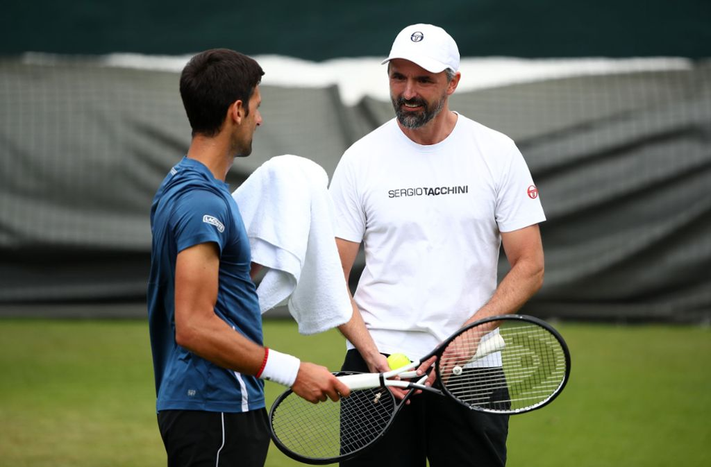 Novak Djokovic (links) setzt in Wimbledon auf Goran Ivanisevic. Foto: Getty Images