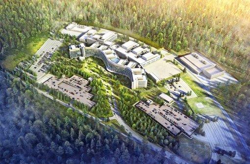 Das geplante neue US-Militärkrankenhaus bei Weilerbach in der Pfalz soll auch in künftigen Krisen verwundete US-Soldaten versorgen. Foto: US-Militär