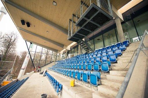 Gazi-Stadion auf der Zielgeraden