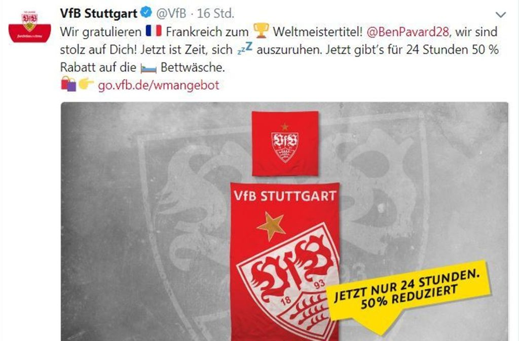 Vfb Stuttgart Zur Wm 2018 Warum Unter Benjamin Pavard Gratulation