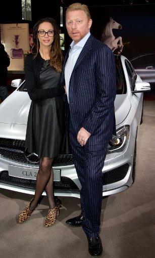 Sie ist schon seit ein paar Tagen auf der Fashion Week unterwegs, jetzt ist auch ihr Mann dabei: bBoris und Lilly Becker/b. Foto: dpa