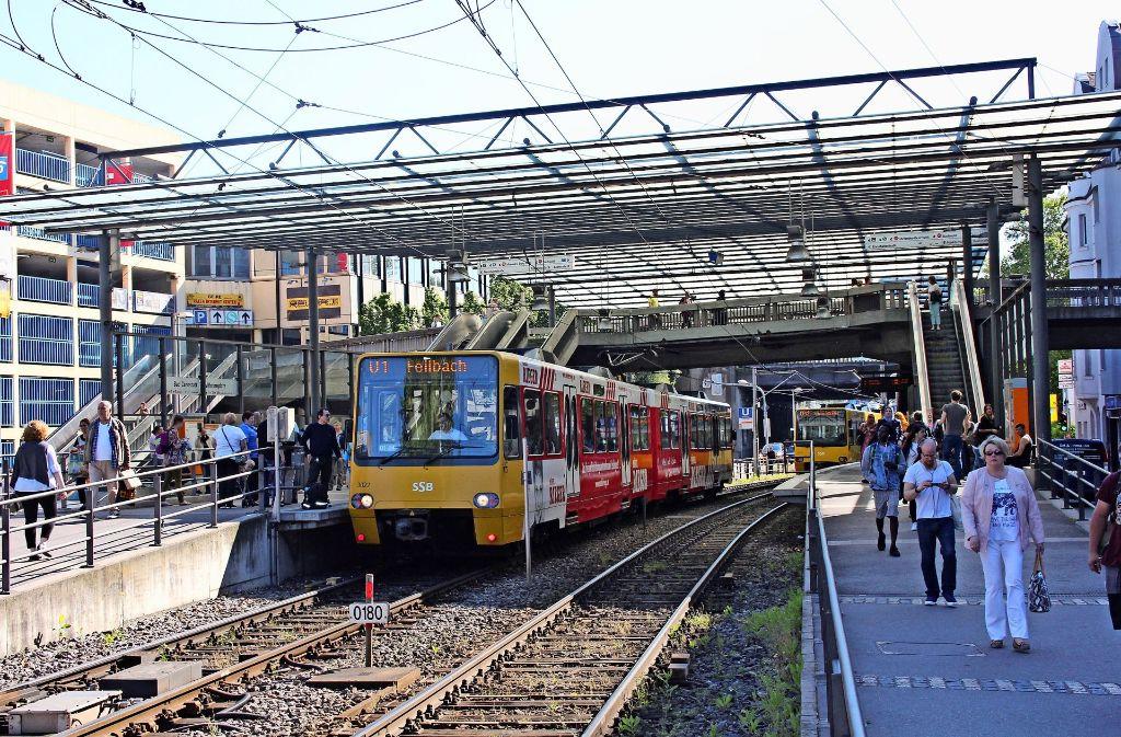 Wilhelmsplatz In Bad Cannstatt Der Umbau Der Haltestelle Beginnt