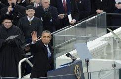 Kriege beenden, Klimawandel bekämpfen und Bürgerrechte stärken - US-Präsident Barack Obama zeigt sich zu Beginn seiner zweiten Amtszeit ungewöhnlich kämpferisch.  Foto: dpa