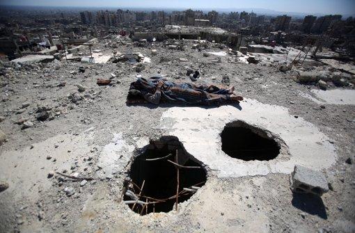 Zerstört: Blick auf Damaskus Foto: dpa