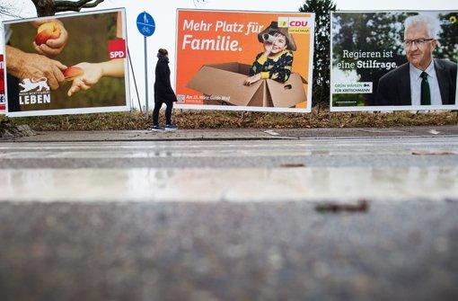 Diebe räumen Wahlplakate mitunter in ganzen Straßenzügen ab. (Symbolbild) Foto: dpa
