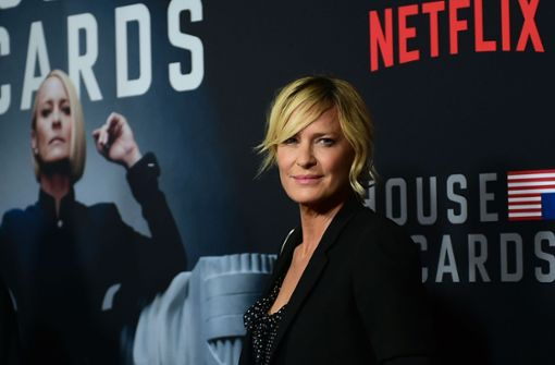 "Robin Wright spielt in der Serie ""House of Cards"" Claire Underwood. Foto: AFP"