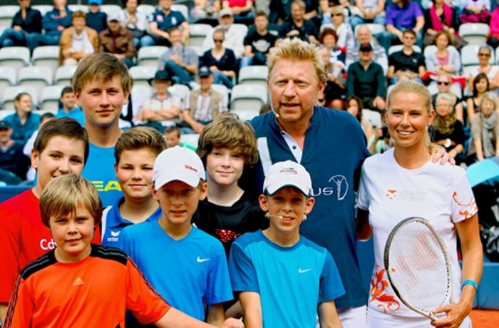 Tennis: Sondertraining mit    Boris auf dem Center Court