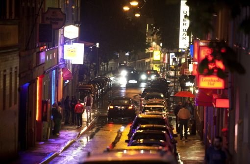 Leonhardsstraße bei Nacht Foto: Petsch