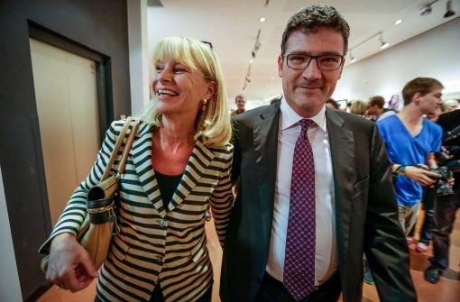 Karin Maag und Stefan Kaufmann haben Grund zum Feiern Foto: Leif Piechowski