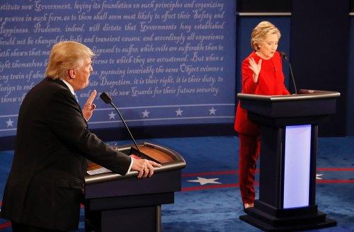 Clinton hat die Nase vorn