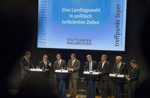 """""""Eine Landtagswahl in politisch turbulenten Zeiten"""" – unter diesem Motto stand die Podiumsdiskussion in der Stuttgarter Liederhalle. Foto: Lichtgut/Max Kovalenko"""