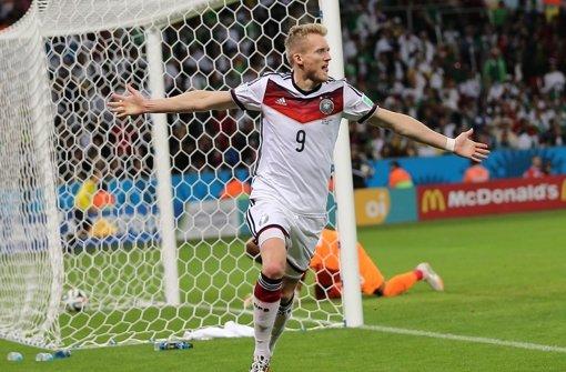 André Schürrle trifft zum erlösenden 1:0 gegen Algerien Foto: EPA