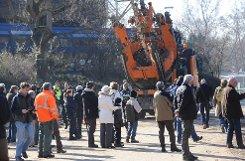 Die aktuellen Baumfäll- und Baumverpflanzungsarbeiten im Stuttgarter Schlossgarten.br Foto: www.7aktuell.de/Oskar Eyb