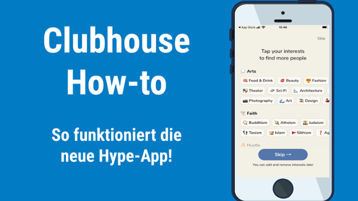 Clubhouse: Kleines How-to