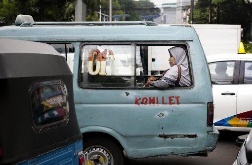 Elektronische Werbetafel in Jakarta zeigt Pornofilm