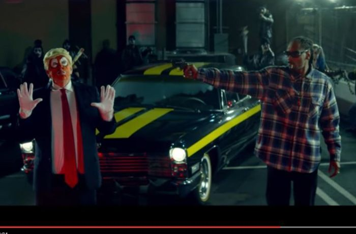 USA: Snoop Dogg erschießt Clown-Version von Donald Trump