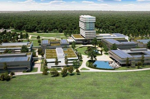 In weitläufigen Grünanlagen sollen die Vordenker auf frische Ideen kommen. Foto: Bosch