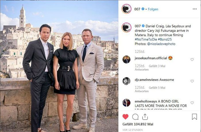 Neuer James-Bond-Film: Daniel Craig dreht in Matera
