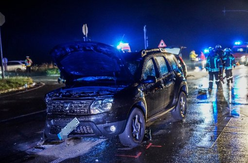 Sieben Verletzte nach Unfall