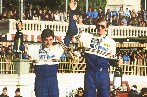 Walter Röhrl (re./mit Copilot Christian Geistdörfer) feierte in den 1980er Jahren seine größten Erfolge Foto: obs/Adam Opel AG