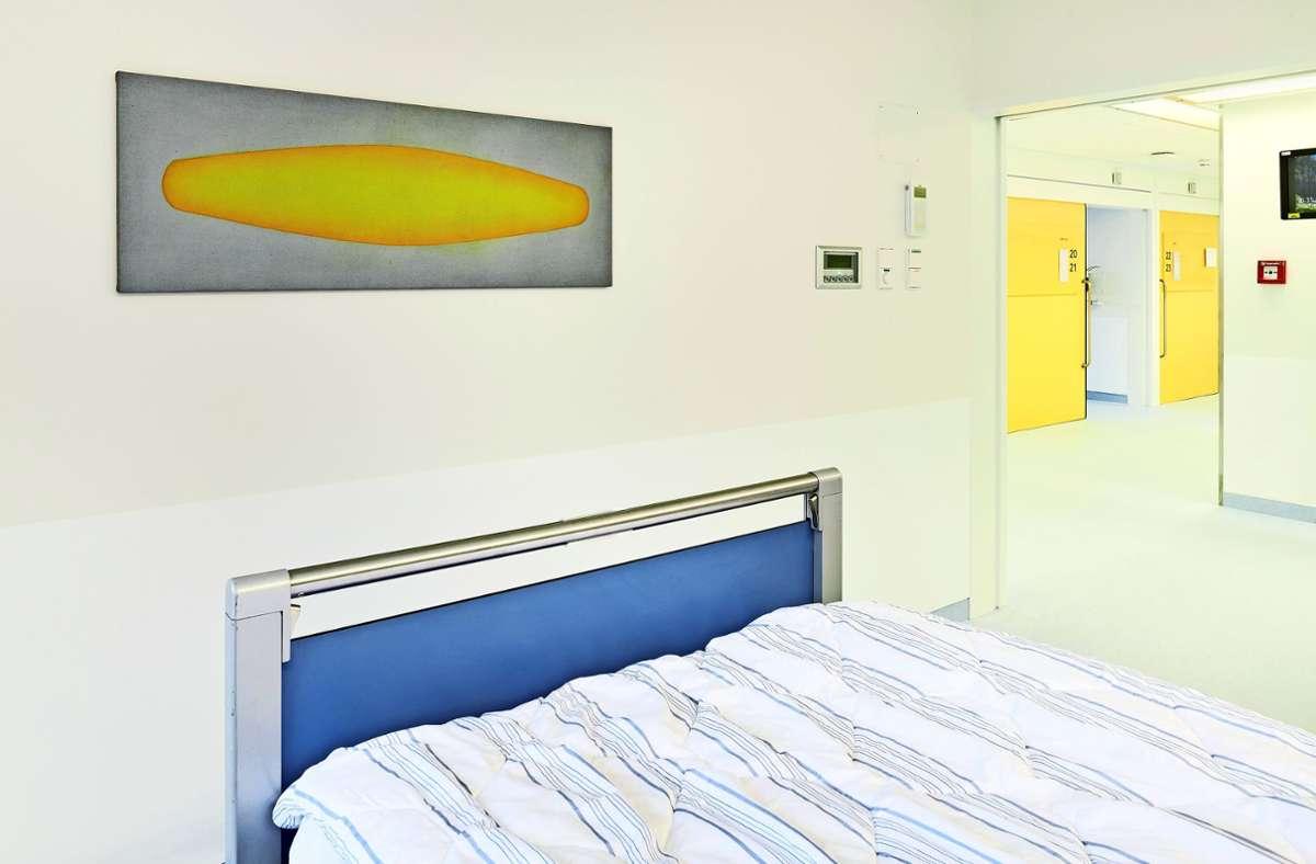 Kunst im Krankenhaus - Corona-Patienten können abtauchen