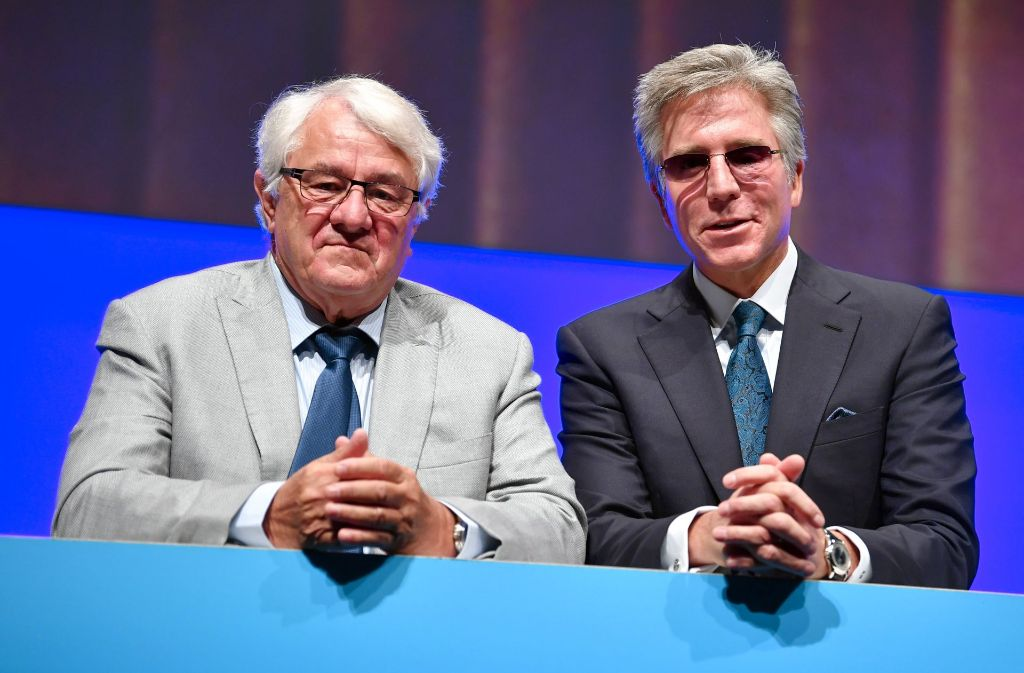 Chefkontrolleur Hasso Plattner (links) und SAP-Chef Bill McDermott. Foto: dpa