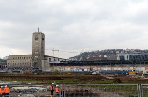 Die Bahn erhält wegen der Kostenexplosion und der unsicheren Projektfinanzierung für Stuttgart 21 kein Geld mehr vom Bund. Hier Bilder aus dem ... Foto: dpa