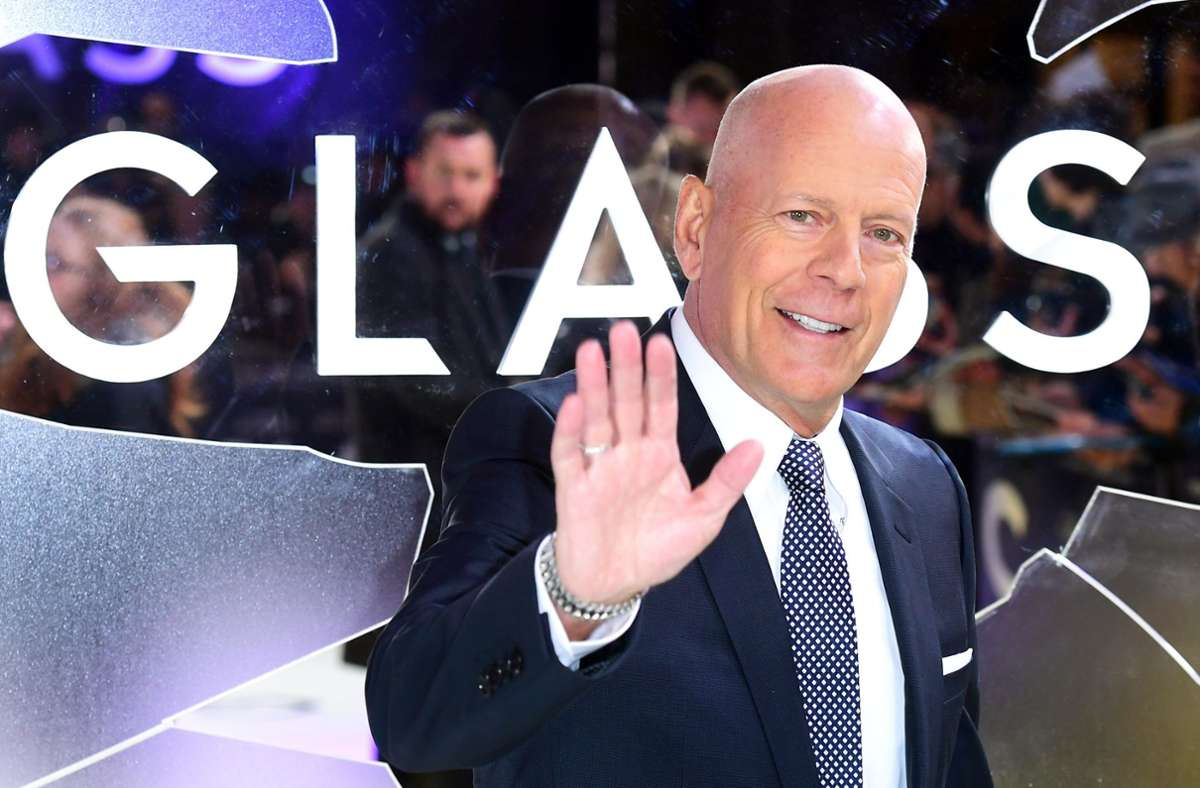 "Bruce Willis bei der Premiere des Thrillers ""Glass"" in London Foto: dpa/Ian West"