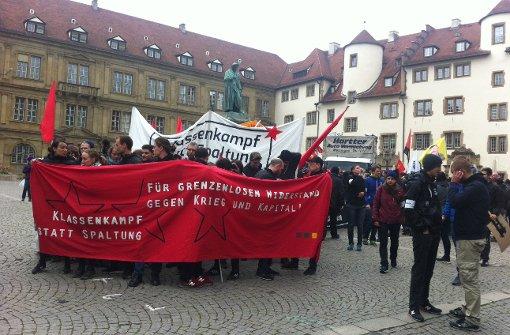 Demonstration startet am Schillerplatz