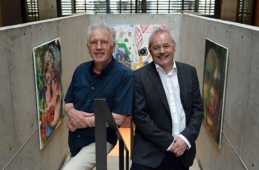 Sie sind die Initiatoren der Kulturwoche unter dem Motto 7 Tage 7 Schwaben: Der Komiker Albrecht Metzger (links) und der Schauspieler Achim E. Ruppel. Foto: dpa