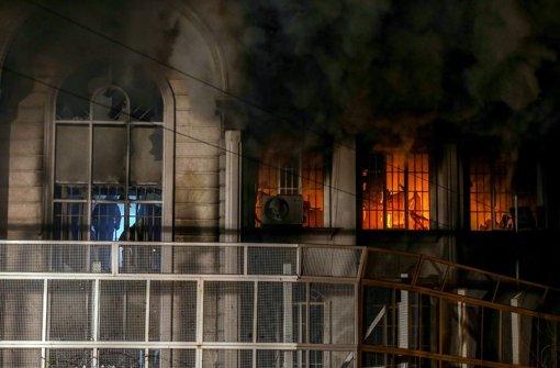 Angriff auf die  saudische Botschaft in der iranischen Hauptstadt Teheran Foto: