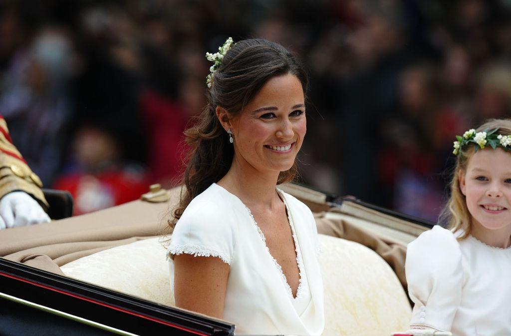 Bei Der Hochzeit Ihrer Schwester Kate 2011 Stand Pippa Middleton