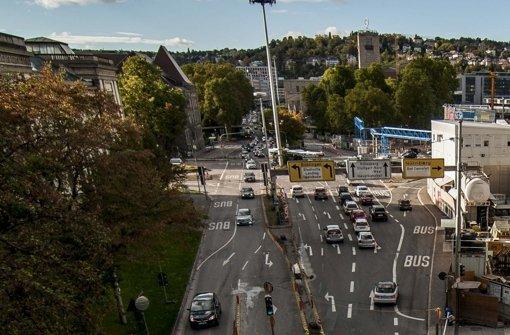 Die Schillerstraße vor dem Wagenburgtunnel wird zum Park hin verlegt. Foto: Lichtgut/Max Kovalenko