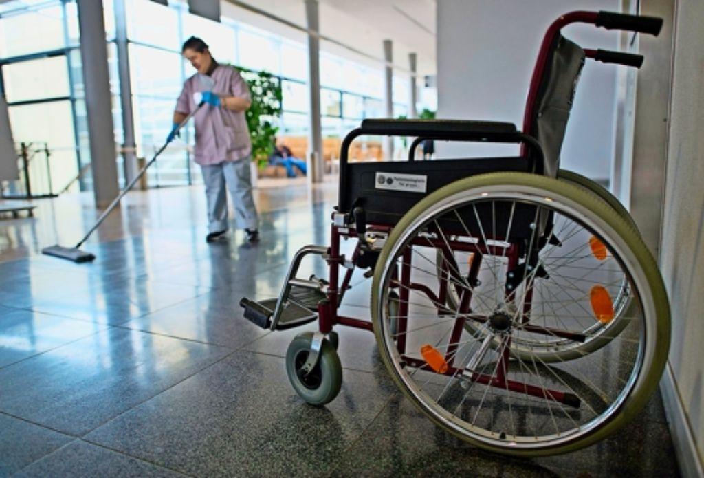Gewindelt im krankenhaus