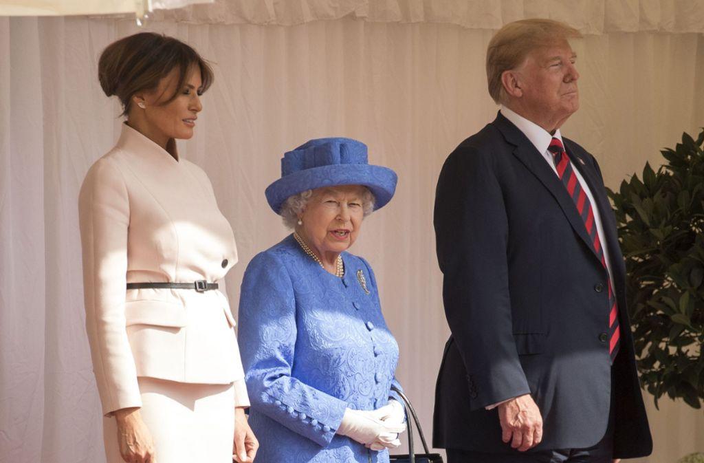 Trump Bei Queen